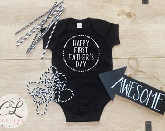 Father's Day Shirt / Baby Father's Day Shirt Happy First Father's Day Baby Shirt First Father's Day Baby Bodysuit Daddy Dad Babies Gift 031