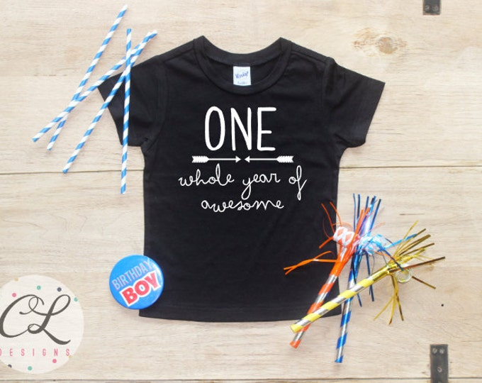 Birthday Boy Shirt / Baby Boy Clothes 1 Year Old Outfit First Birthday TShirt 1st Birthday Boy Cake Smash Outfit One Bodysuit Toddler 024