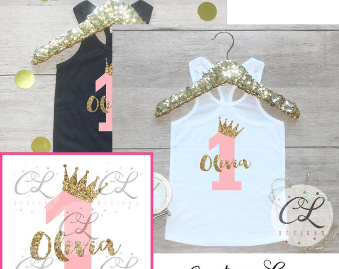 Birthday Girl Tank Top Shirt / Baby Girl Clothes 1 Year Old Outfit First Birthday Shirt 1st Birthday Girl Outfit Cake Smash One TShirt 067