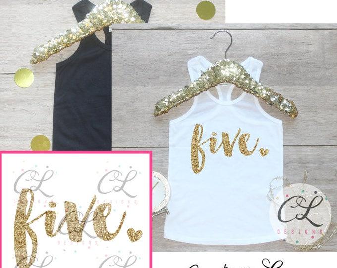 Birthday Girl Shirt / Toddler Girl Clothes 5 Year Old Outfit Fifth Birthday Shirt 5th Birthday Girl Outfit Tank Top Birthday Five Shirt 224