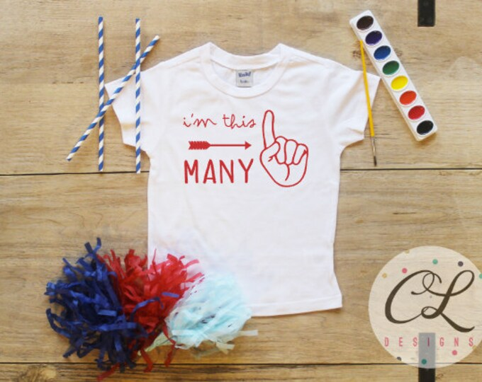 I'm This Many Birthday Boy Shirt / Baby Boy Clothes 1 Year Old Outfit First Birthday TShirt 1st Birthday Cake Smash One Bodysuit Toddler 113