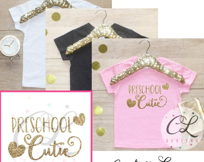 Back to School Shirt / Preschool Cutie Shirt 1st Day of School Shirt Kindergarten Class Outfit T-Shirt First Elementary School 104