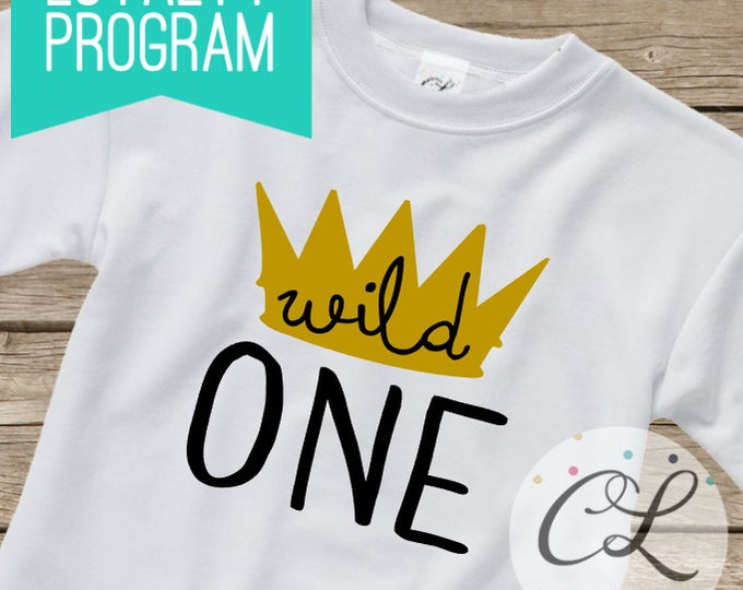 Birthday Boy Shirt or Bodysuit / Short Sleeved TShirt Crown King Wild One Thing Baby Clothes Toddler Outfit Little First 1st 1 Party Tee Kid