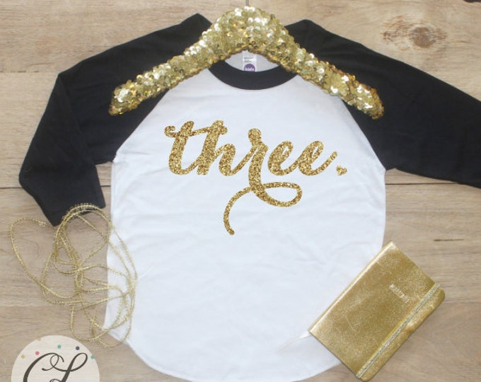 3rd Birthday Girl Shirt / Baby Girl Clothes Wild and Three 3 Year Old Outfit Third Birthday Shirt 3rd Birthday Girl Outfit Three Raglan 001