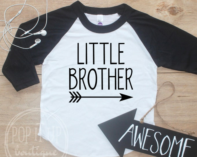 Little Brother Announcement shirt / Little Brother Raglan Shirt Little Brother Arrow Shirt Little Brother Family Pictures New Baby 027