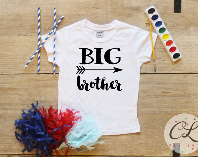 Big Brother shirt / Baby Boy Clothes Big Brother TShirt Pregnancy Reveal Shirt Baby Announcement Shirt Toddler Baby Shower Gift 192