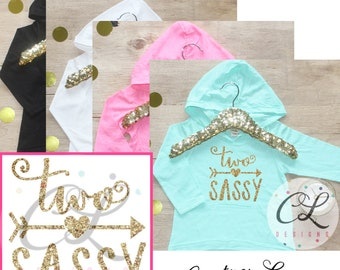 Two Sassy Birthday Girl Shirt / Baby Girl Clothes 2 Year Old Outfit Second Birthday Shirt 2nd Birthday Girl Outfit Hoodie Birthday Party 179