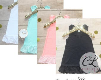 Lace Trim Dress / Baby Girl Clothes Toddler Girl A-Line Tank Dress