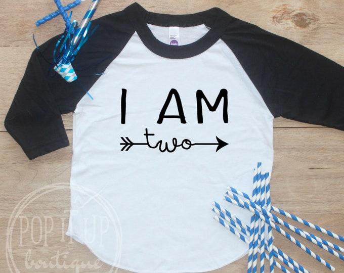 Birthday Boy Shirt / 2nd Birthday T-Shirt 2 Birthday Shirt Two Year Old Outfit Boy Second Birthday Boy Shirt Raglan Shirt Party Arrow Shirt