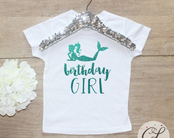 Birthday Girl Shirt / Baby Girl Clothes 1 Year Old Outfit Little Mermaid First Birthday Shirt Birthday Girl Outfit Cake Smash Outfit 050