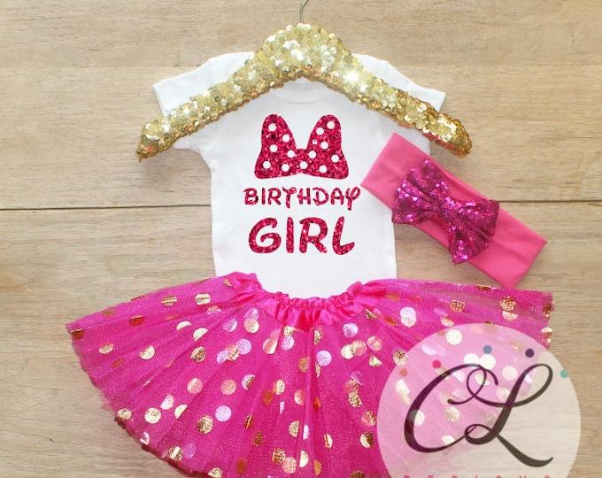 Bithday Girl Bow Tutu Outfit Set / T-Shirt 100