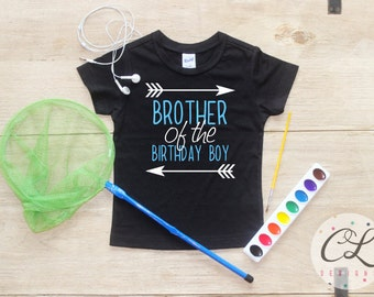 Brother Of The Birthday Boy Shirt Or Bodysuit Sibling Party Little Big