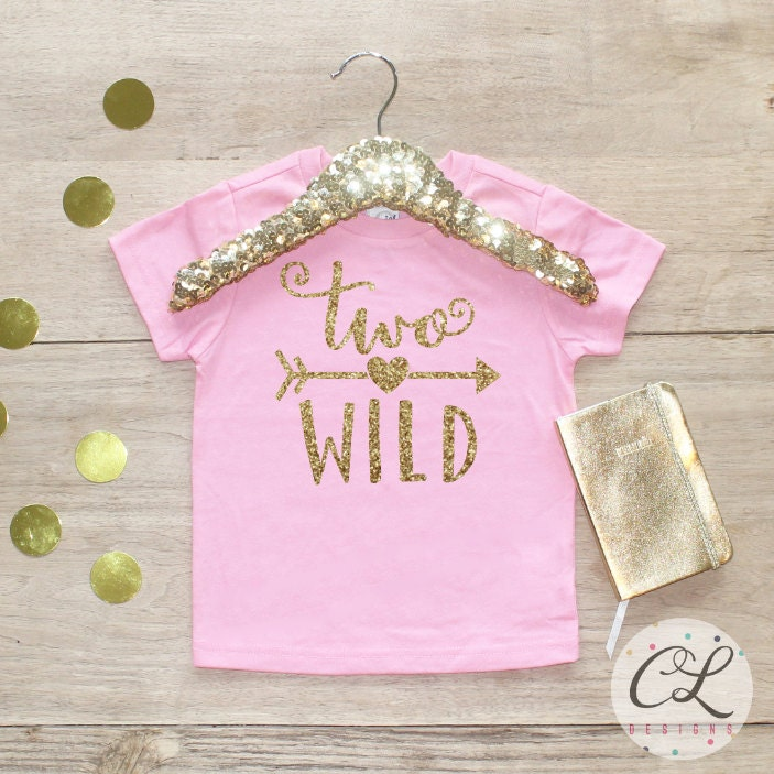 Birthday Girl Shirt Baby Clothes 2 Year Old Outfit Second 2nd Tshirt Two Wild 059