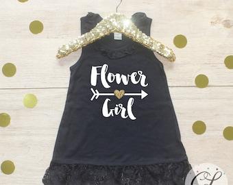 Flower Girl Dress / Petal Patrol Shirt Flower Girl Outfit Wedding Rehearsal Outfit Wedding Shirt Wedding Clothes Cute Flower Girl Shirt 016