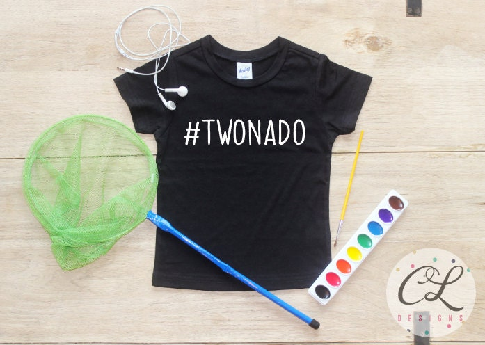 Twonado Birthday Boy Shirt Or Bodysuit 2nd T 2 Two Year Old Outfit Second Party Clothes 094