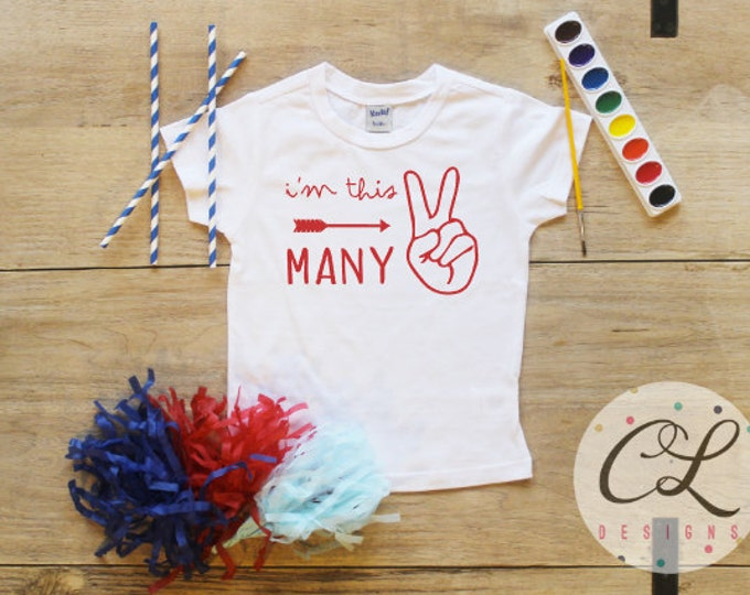 I'm This Many Birthday Boy Shirt / Baby Boy Clothes 2 Year Old Outfit Second Birthday TShirt 2nd Outfit Birthday Party Two Shirt Toddler 113