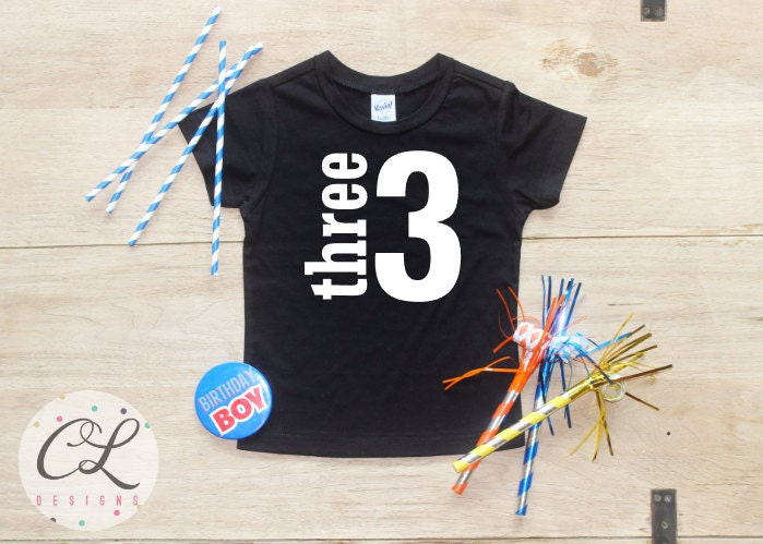 Birthday Boy Shirt Baby Clothes 3 Year Old Outfit Third TShirt 3rd Party Three Toddler 019