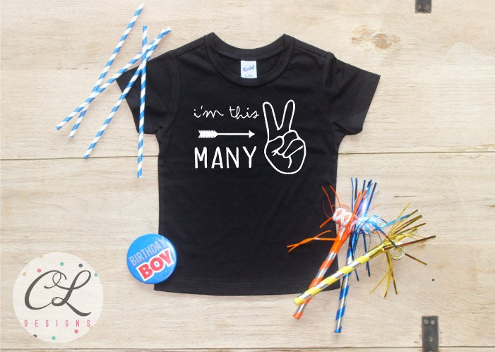 Im This Many Birthday Boy Shirt Baby Clothes 2 Year Old Outfit Second TShirt 2nd Party Two Toddler 113