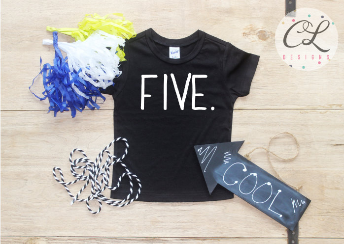 Birthday Boy Shirt Baby Clothes 5 Year Old Outfit Fifth TShirt 5th Party Five Toddler 029