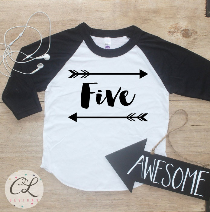 Birthday Boy Shirt Baby Clothes 5 Year Old Outfit Fifth TShirt 5th Party Five Raglan Toddler 020
