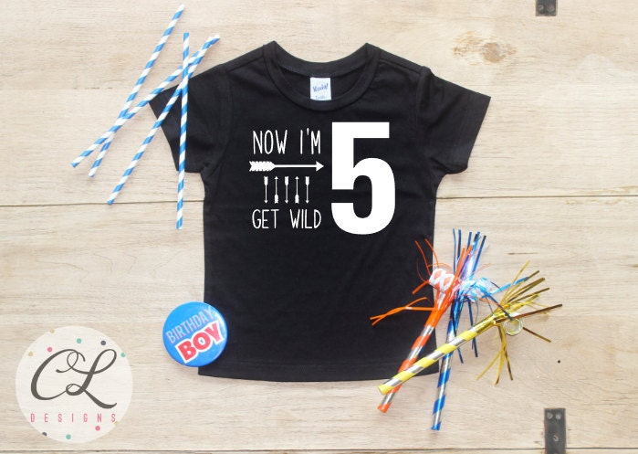 Birthday Boy Shirt Baby Clothes 5 Year Old Outfit Fifth TShirt 5th Party Five Toddler