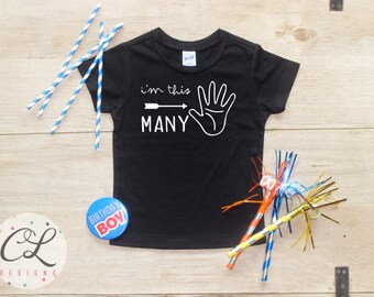 Birthday Boy Shirt / Baby Boy Clothes 5 Year Old Outfit Fifth Birthday TShirt 5th Birthday Boy Outfit Birthday Party Five Shirt Toddler 113