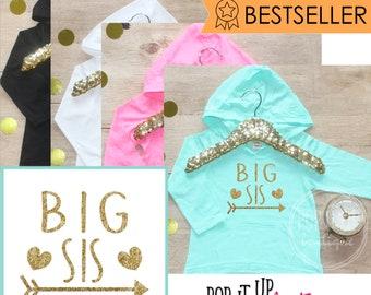 Big Sister Shirt / Baby Clothes Shirt Sibling Shirt Tribal Big Sis New Baby Announcement Shirt Big Sister Announcement Big Sister 005