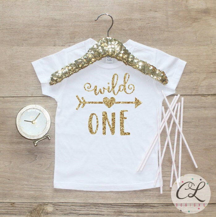 Birthday Girl Shirt Baby Clothes 1 Year Old Outfit First 1st Tshirt One Wild 081