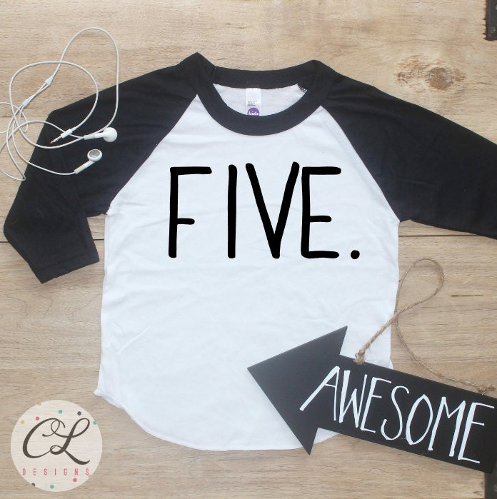 Birthday Boy Shirt Baby Clothes 5 Year Old Outfit Fifth TShirt 5th Party Five Raglan Toddler 029