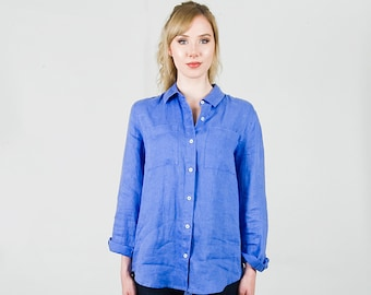 585e90d2eae Womens Loose Hi Low Kurta Shirt Dress with collar Plus