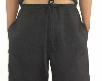 3480eadb002 Mens Linen Beach Boho Knee Length Shorts