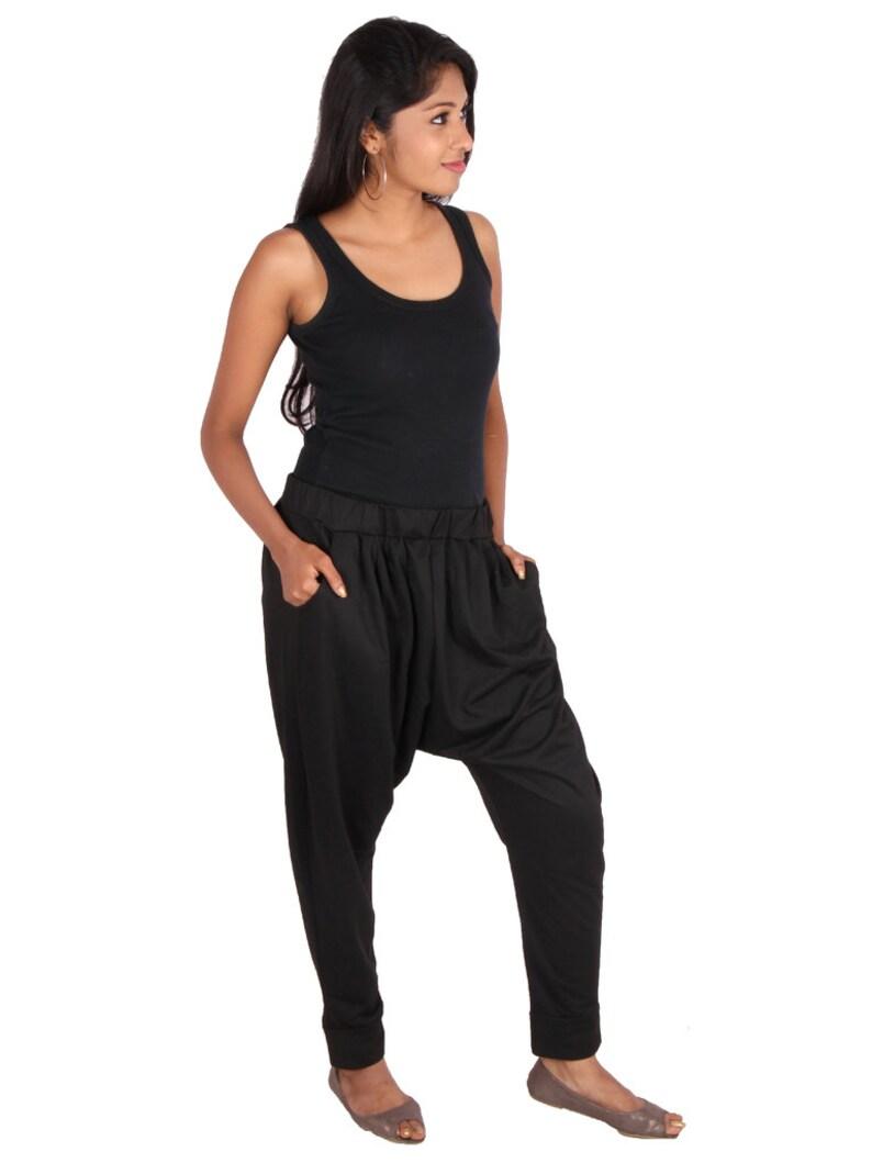 d391d6dc9e Womens Bamboo Lycra Knitted Kundalini Yoga Harem Pants | Etsy