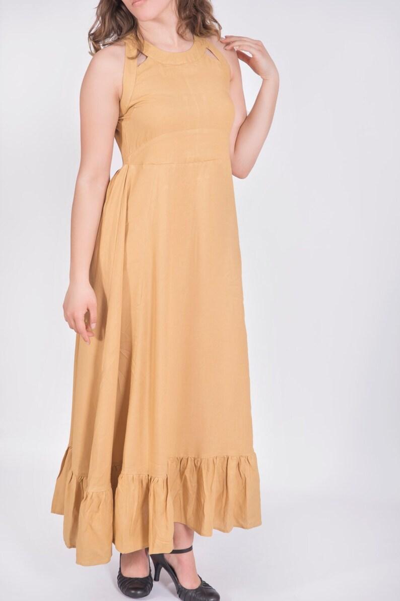Womens Viscose Empire Waist Maxi Dress Plus size   Etsy