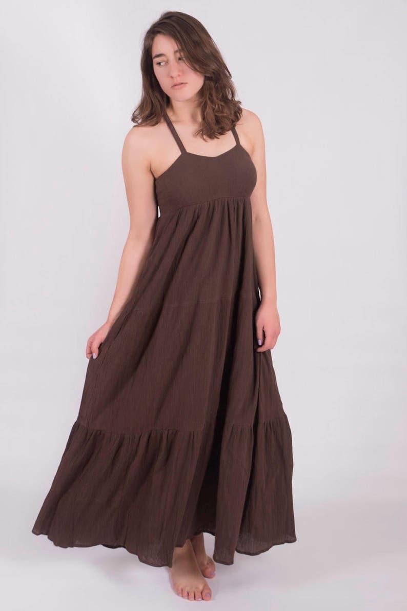 Womens Gauze Summer Beach Layer Boho Dress Plus size. | Etsy