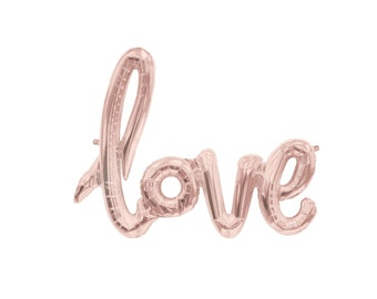 Or rose amour ballon ballons rose douche nuptiale décoration calligraphie ballon amour ballon Bachelorette idées Blush rose amour signe