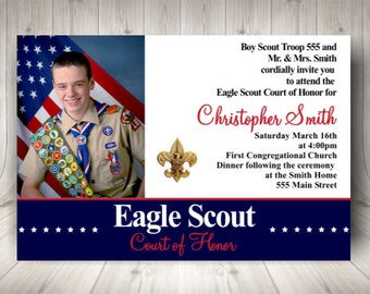 Eagle Scout Invite Etsy