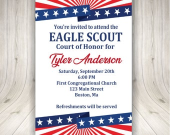 Eagle Scout Coh Invitations Etsy