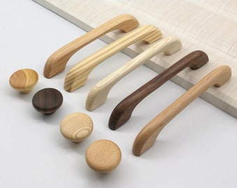 Wood Drawer Pulls Etsy