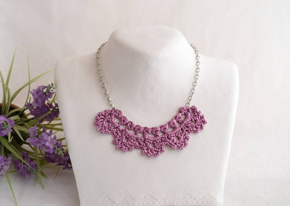 Sister Purple Gift Dainty Women Necklace Small Gift For Wife Bridesmaid Purple Necklace For Sister In Law Ideas Birthday Unusual Gifts Cute