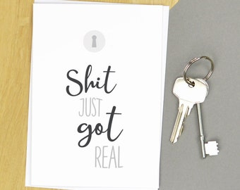Funny New Home Card Etsy