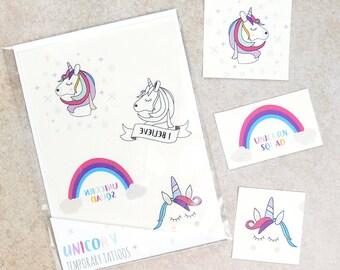 Unicorn temporary tattoo, unicorn tattoo, unicorn gift, temp tattoos