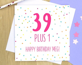 40th Birthday Card Personalised