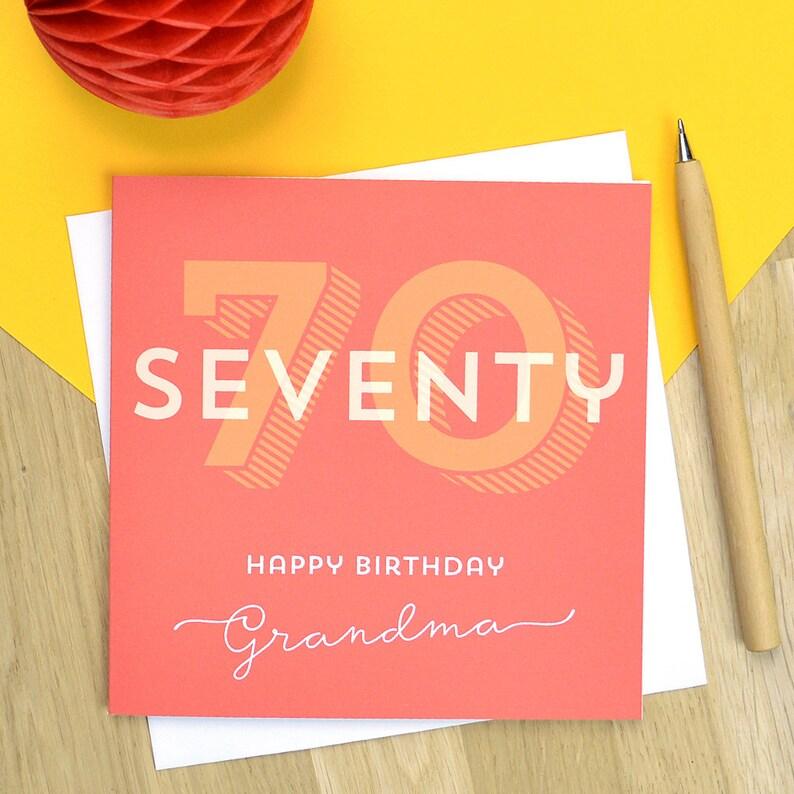 Personalised 70th Birthday Card Milestone