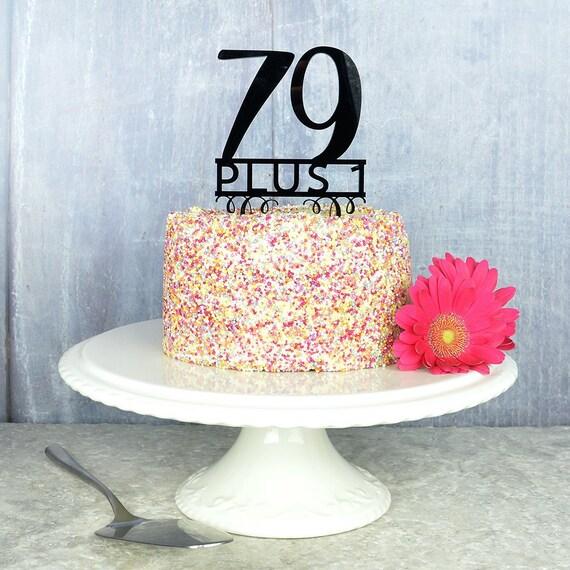 80th Birthday Cake Topper Acrylic Plastic