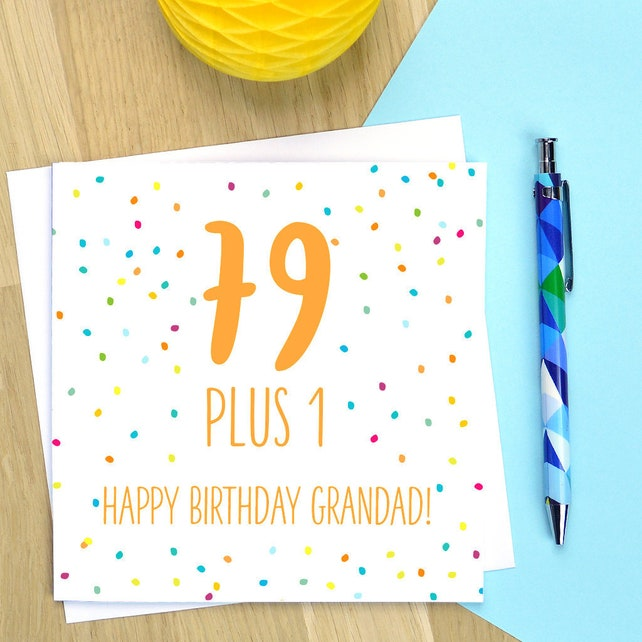 80th Birthday Card Personalised