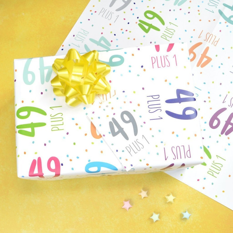 50th Birthday Wrapping Paper 491 Set