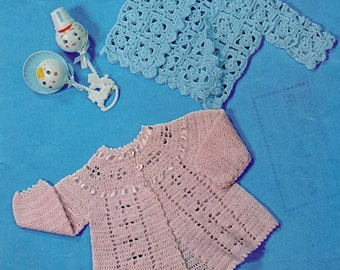 baby matinee coats vintage crochet pattern PDF instant download