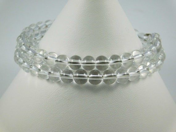 Clear White Bead Wire Wrapped Bead