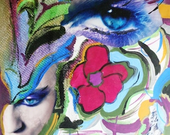 Original Mixed Media Collage Art  - Chaos - Prints available (see prints section)