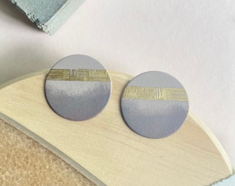 Mauve Gradient Disk Earrings